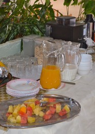Section of Breakfast table
